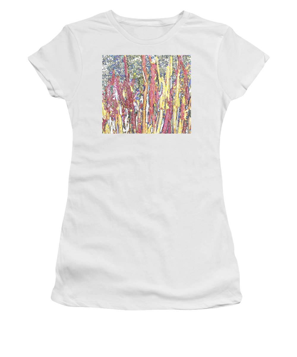 Forest Women's T-Shirt (Athletic Fit) featuring the photograph Brimstone Forest by Ian MacDonald