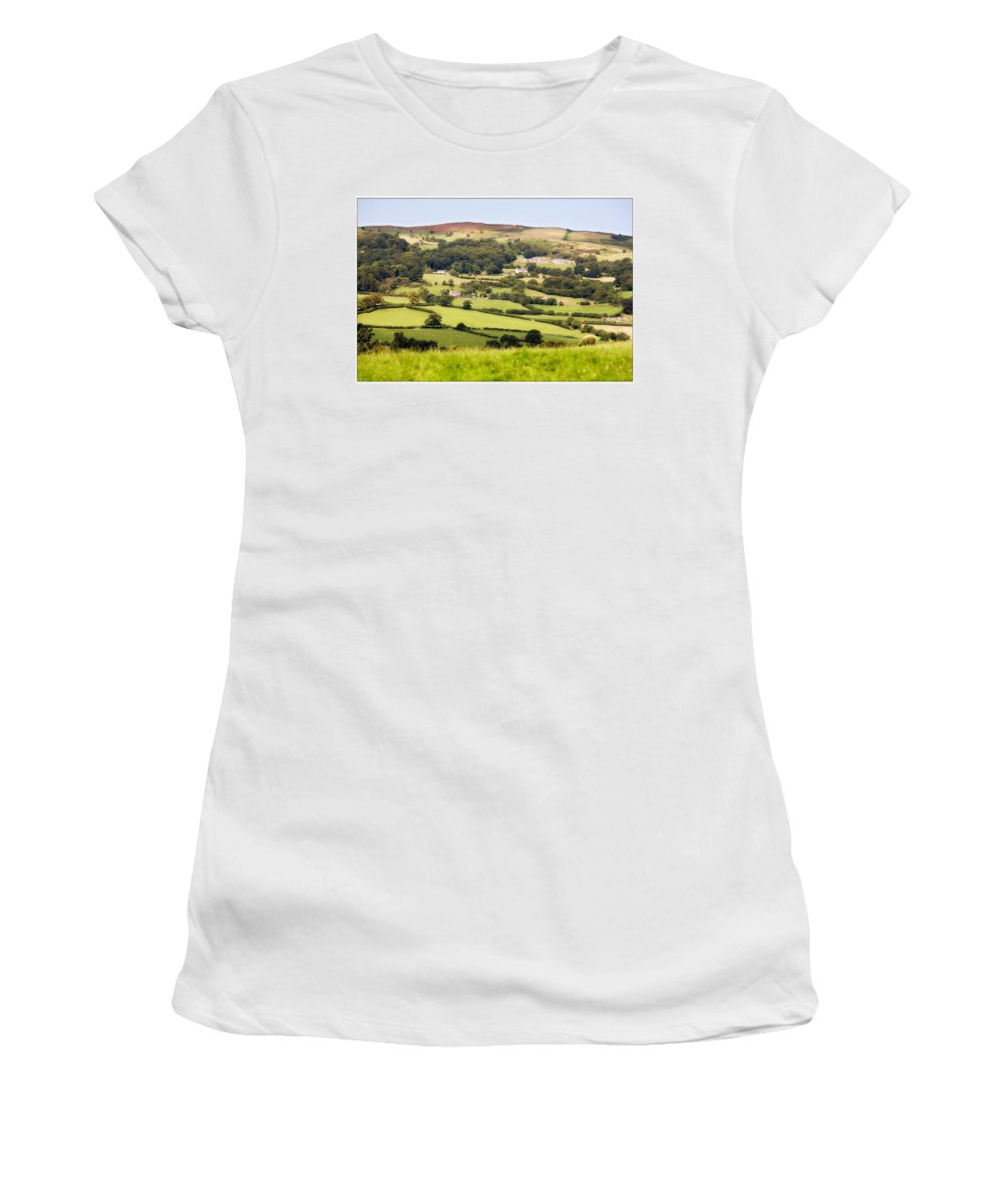 Landscape Women's T-Shirt (Athletic Fit) featuring the photograph British Landscape by Mal Bray