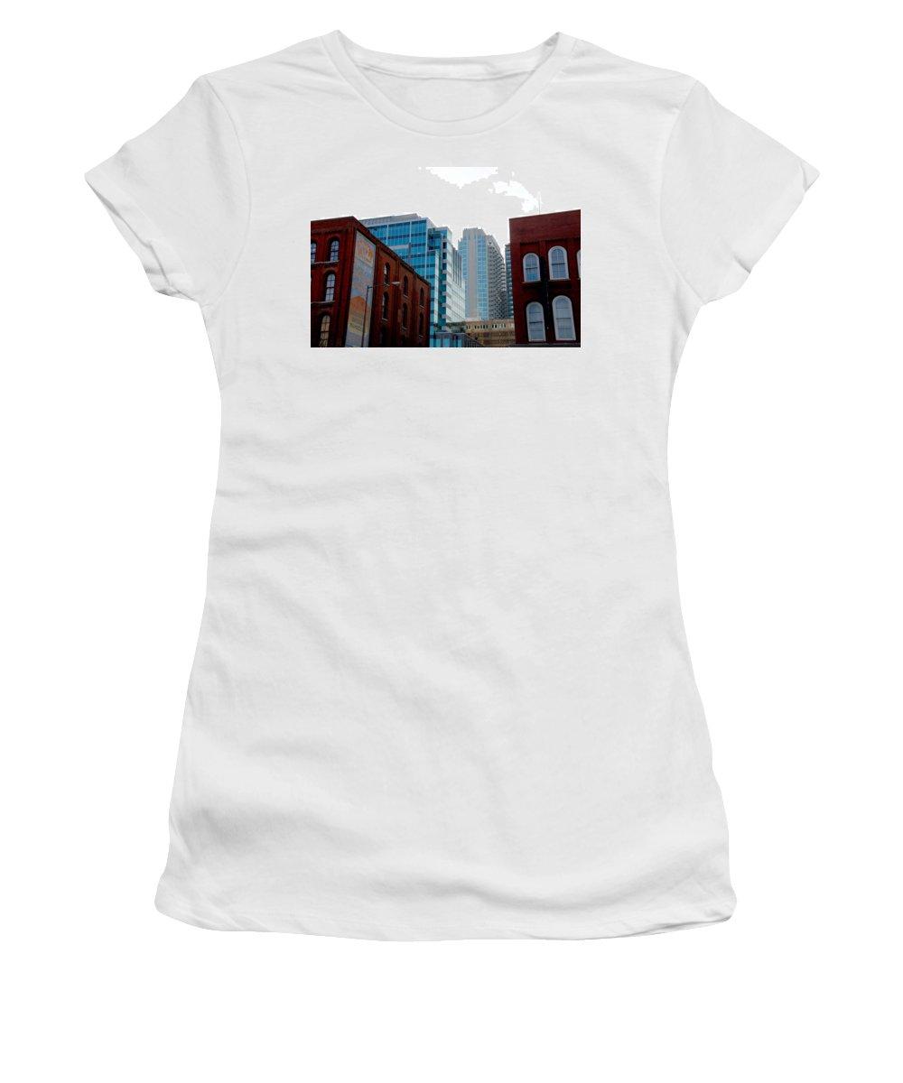 Nashville Photos Women's T-Shirt (Athletic Fit) featuring the photograph Broadway Nashville Tn by Susanne Van Hulst