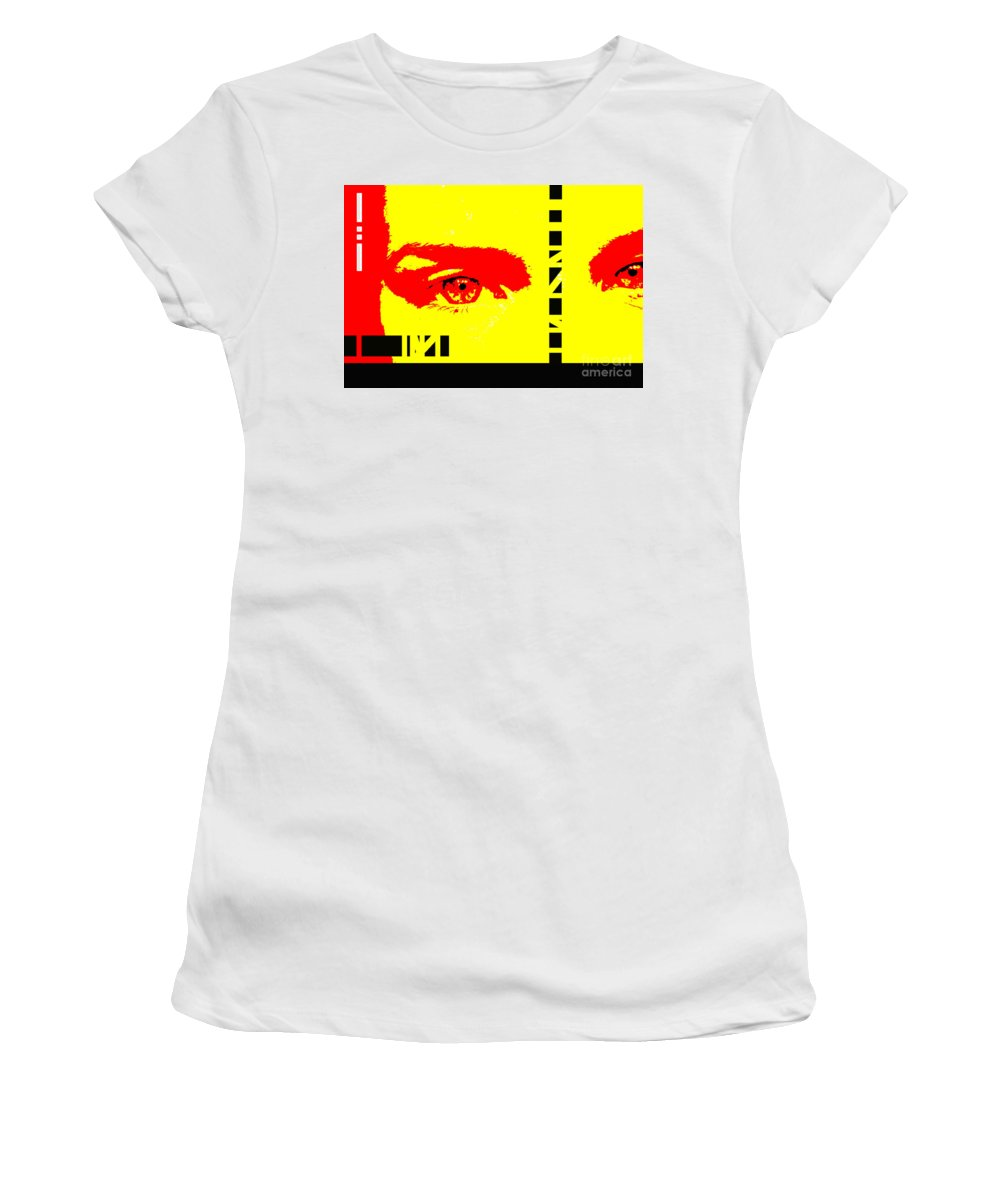 Eyes Women's T-Shirt (Athletic Fit) featuring the photograph Broken by Amanda Barcon
