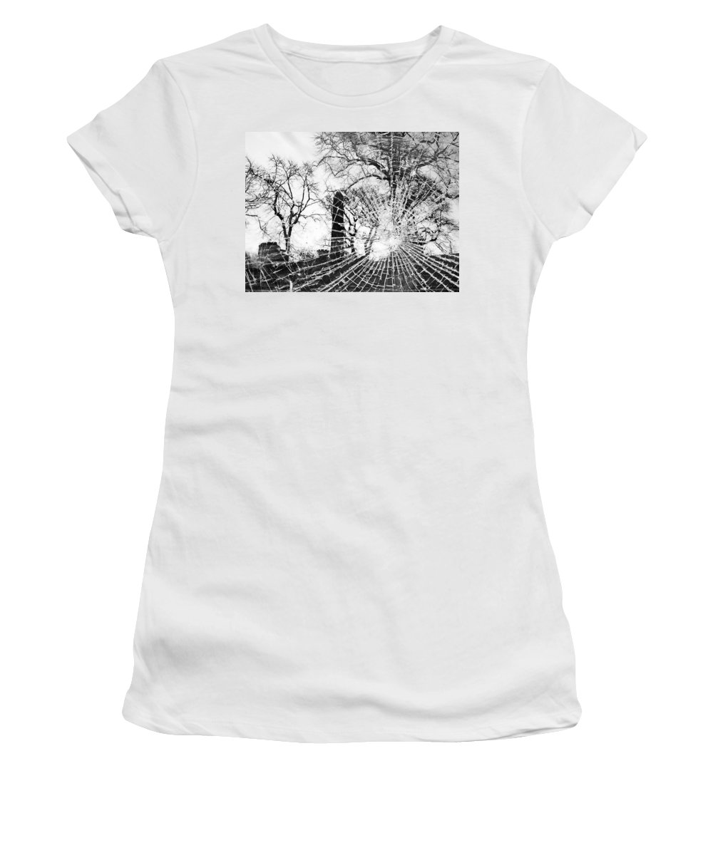 Tree Women's T-Shirt (Athletic Fit) featuring the photograph Broken Trees by Munir Alawi