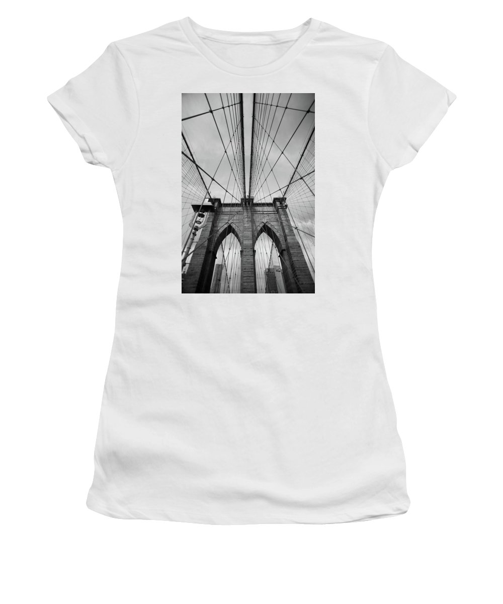 Brooklyn Women's T-Shirt (Athletic Fit) featuring the photograph Brooklyn by Agnes Czekman