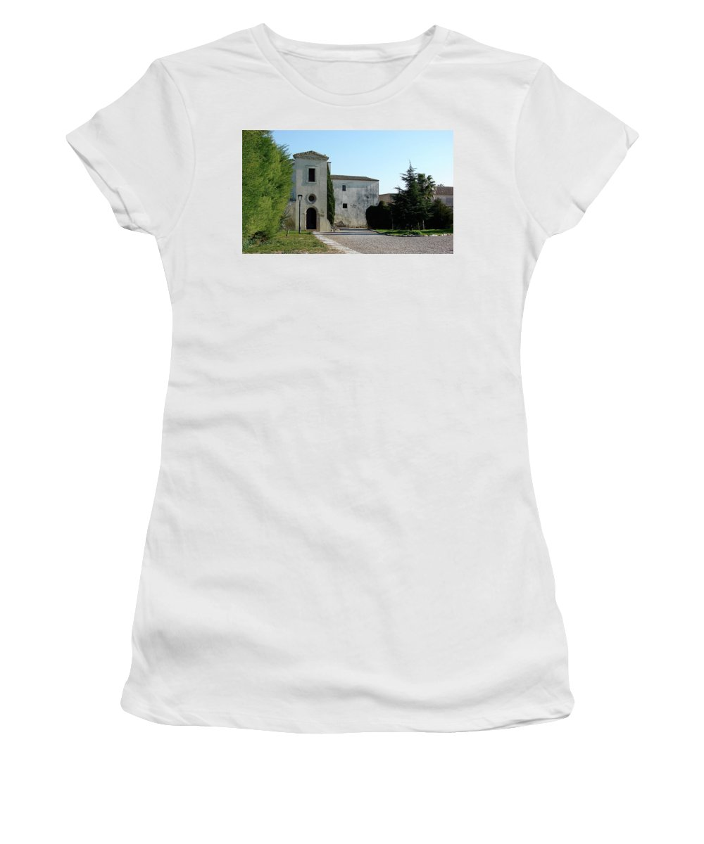 Rota Women's T-Shirt (Athletic Fit) featuring the photograph Building In Spain by Brett Winn