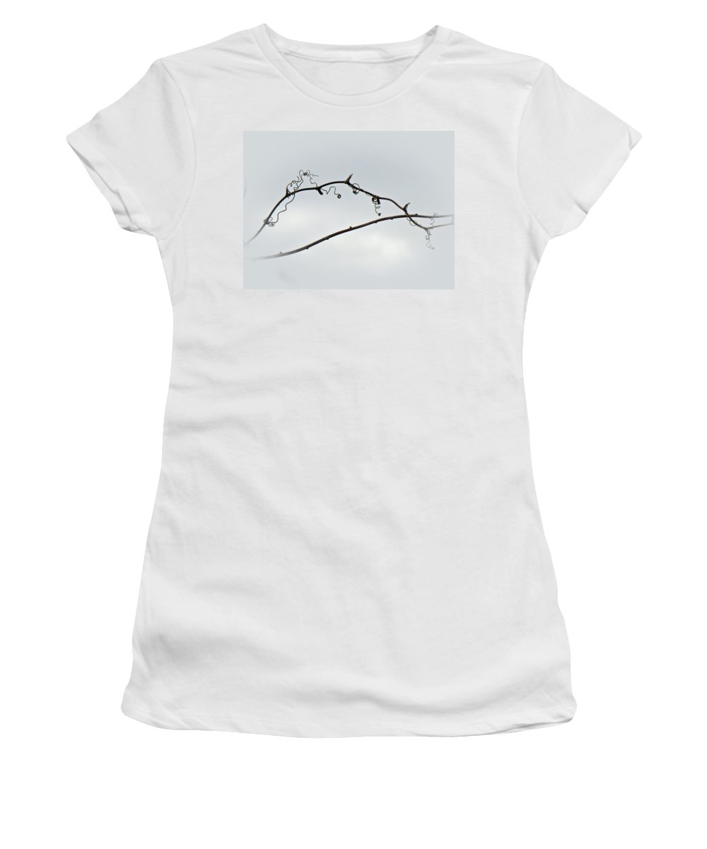Brier Women's T-Shirt (Athletic Fit) featuring the photograph Bull Brier Tendrils by Mother Nature
