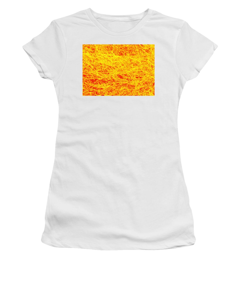 Photography Women's T-Shirt (Athletic Fit) featuring the mixed media Bushes 2 by Steven Natanson