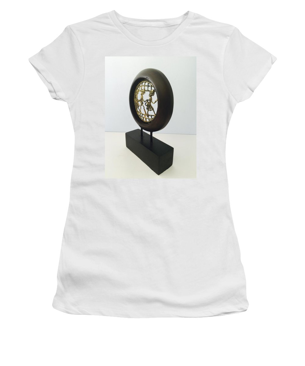 Home Decor Women's T-Shirt (Athletic Fit) featuring the sculpture Buy More Showpiece @best Price by Craftedindia