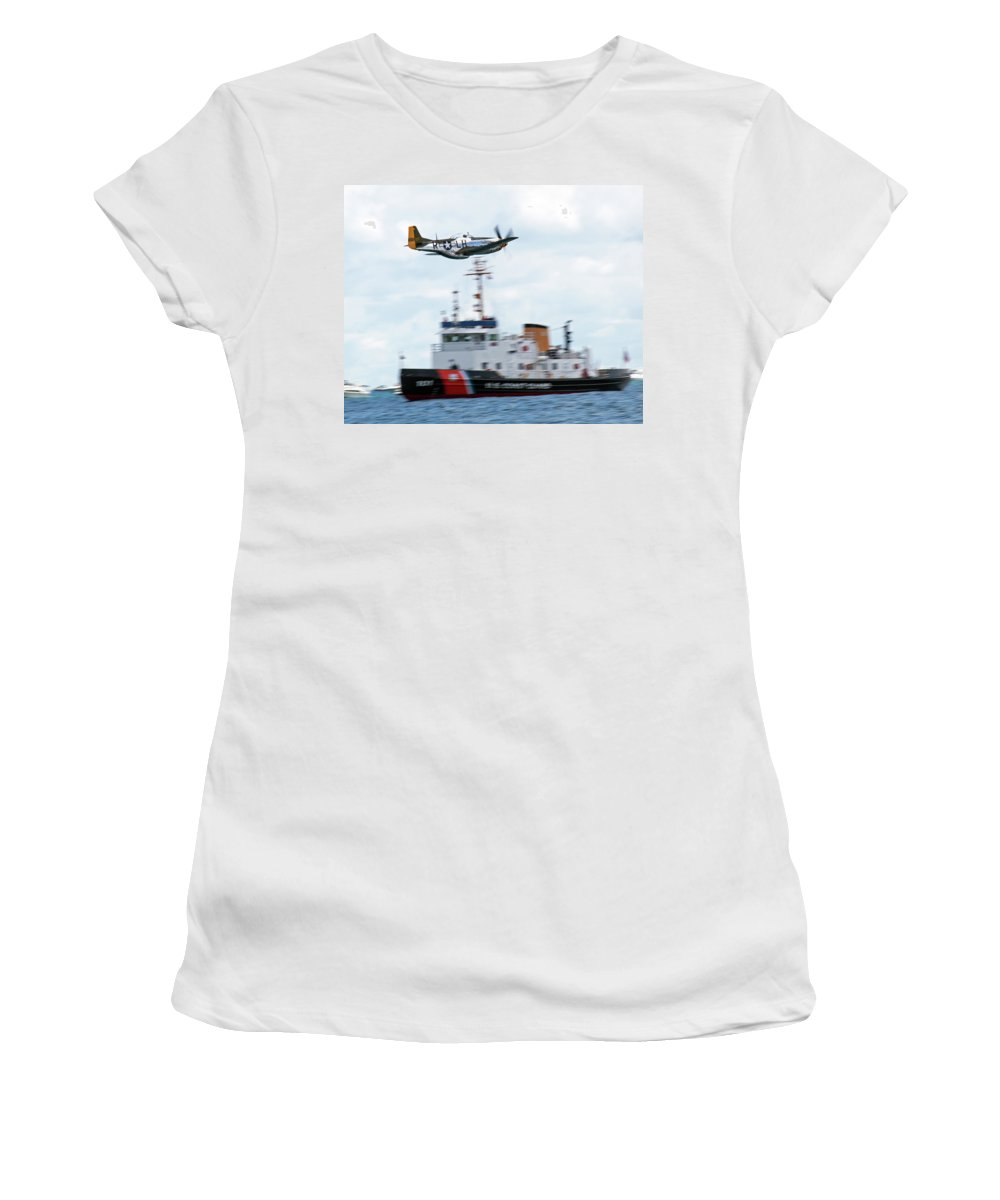 Aerobatic Women's T-Shirt (Athletic Fit) featuring the photograph Buzzing by Rick Selin