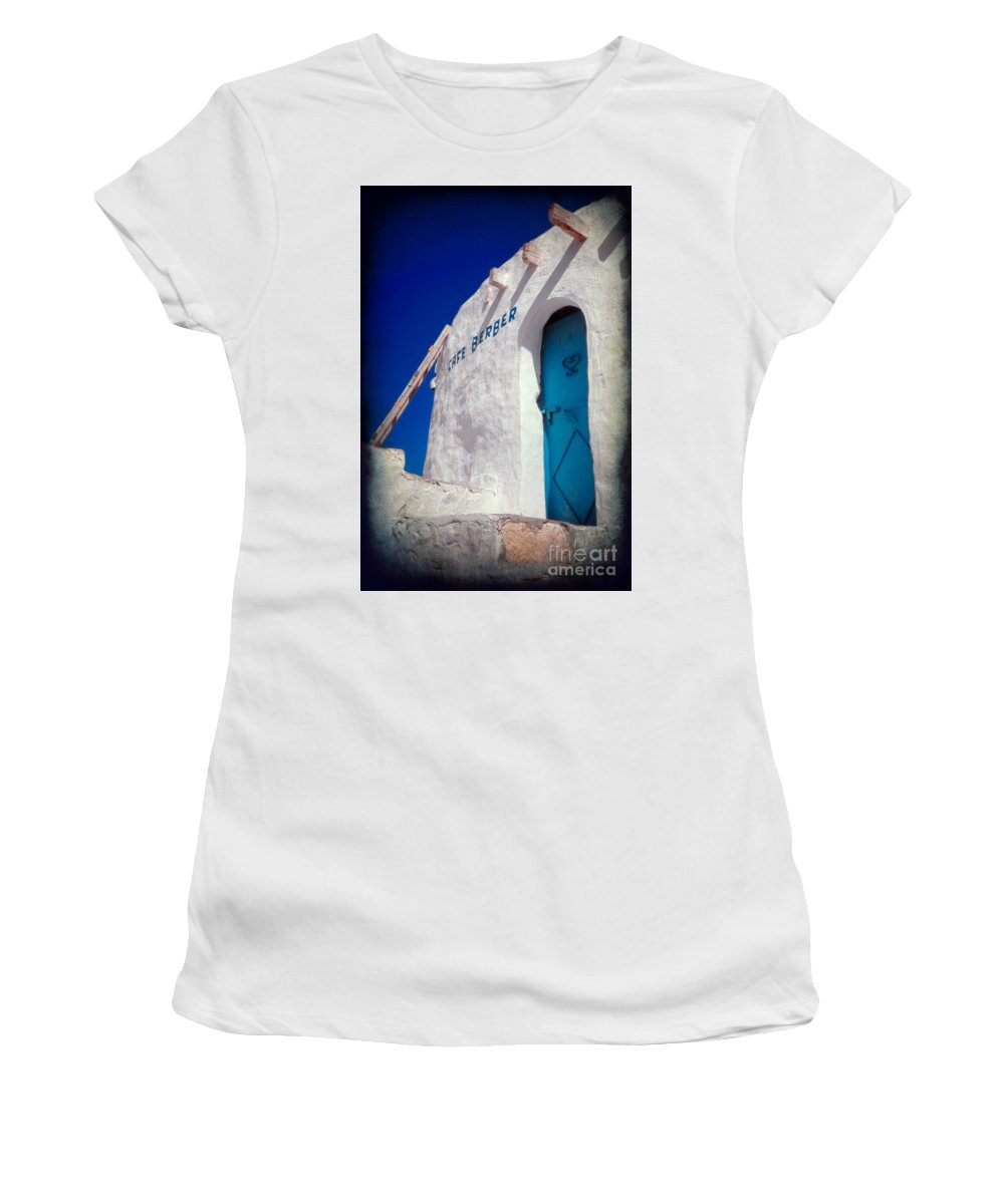 Tunisia Women's T-Shirt (Athletic Fit) featuring the photograph Cafe Berber by Silvia Ganora