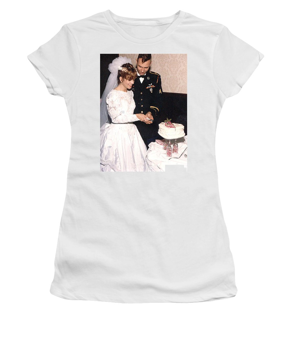 Wedding Women's T-Shirt (Athletic Fit) featuring the photograph Cake Time by John Graziani