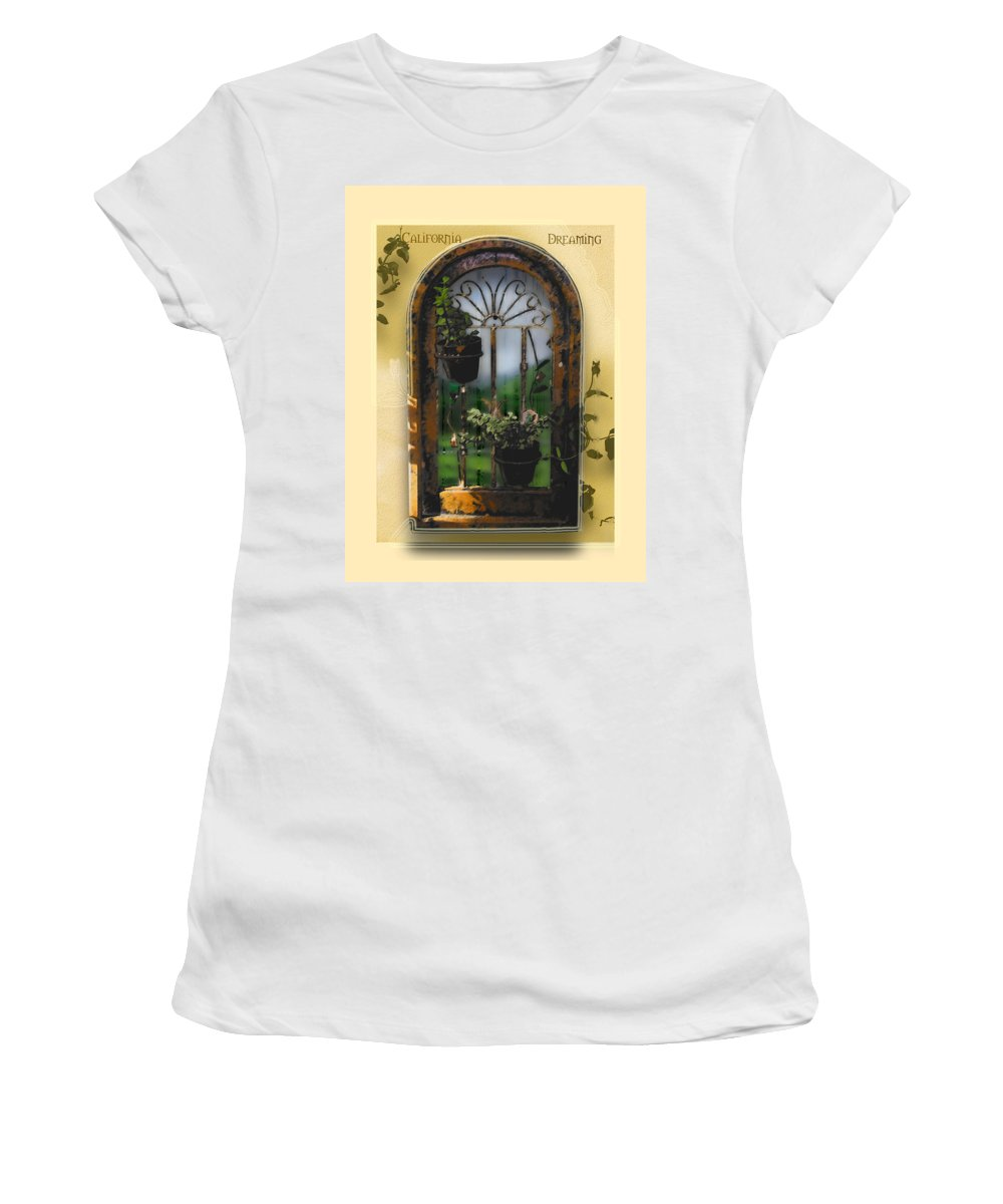 Abstract Women's T-Shirt (Athletic Fit) featuring the photograph California Dreamin by Karen W Meyer