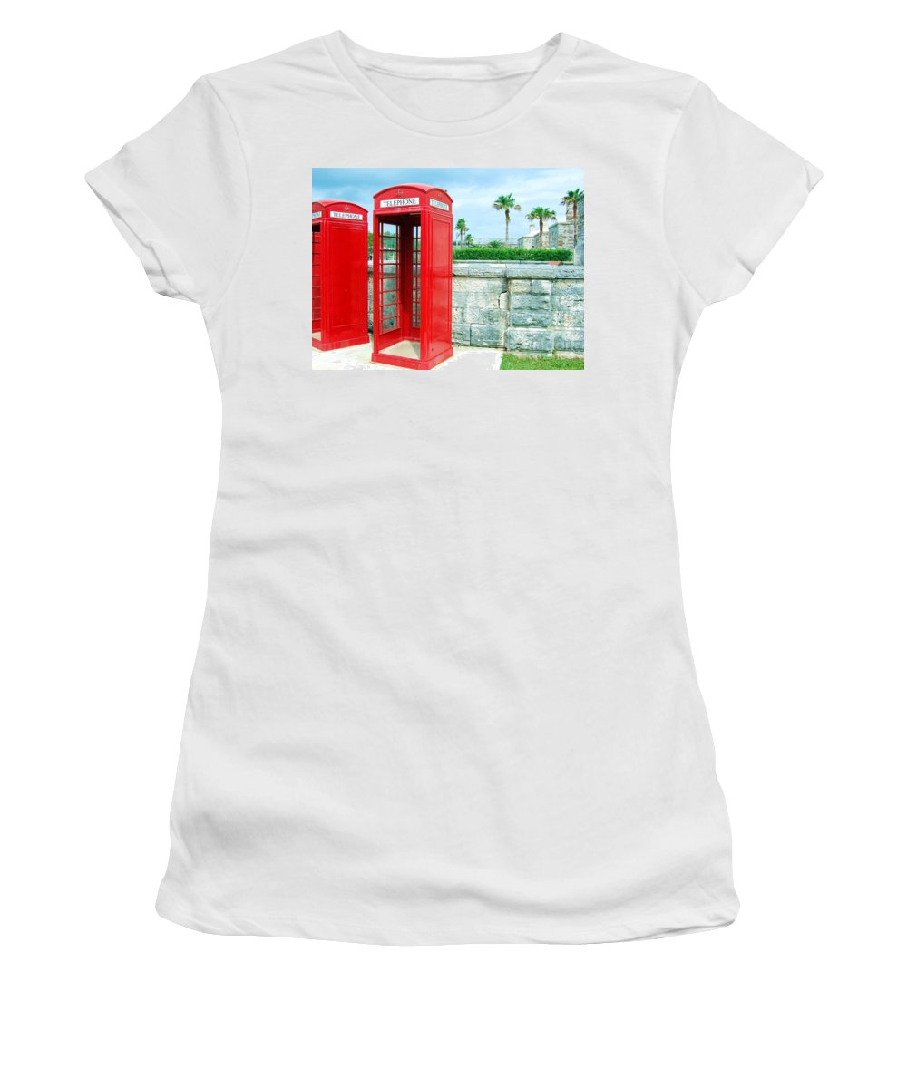 Phone Women's T-Shirt (Athletic Fit) featuring the photograph Call Me by Debbi Granruth