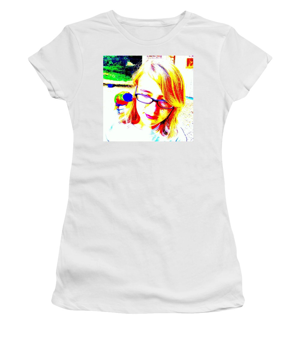 Bird Women's T-Shirt (Athletic Fit) featuring the photograph Can You Hear Me Now by Ed Smith