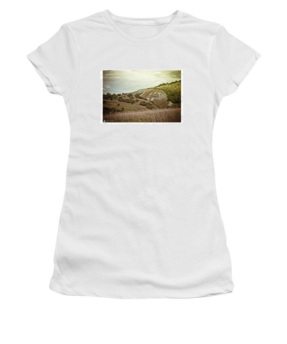 Kyffhaeuser Women's T-Shirt featuring the photograph #canon #clouds #sky #kyffhaeuser by Mandy Tabatt