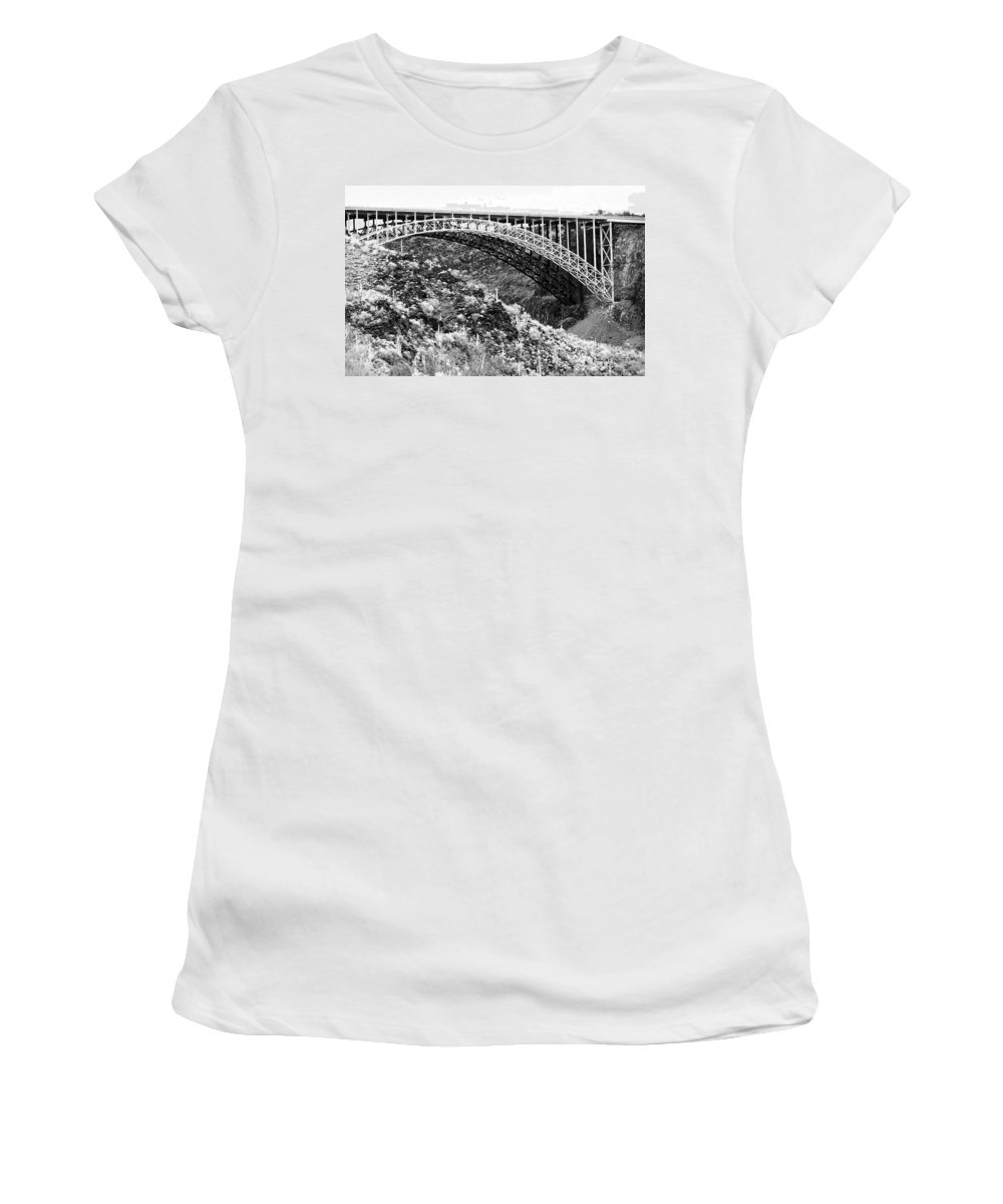 Bridge Women's T-Shirt (Athletic Fit) featuring the photograph Canyon Bridge by Phyllis Denton