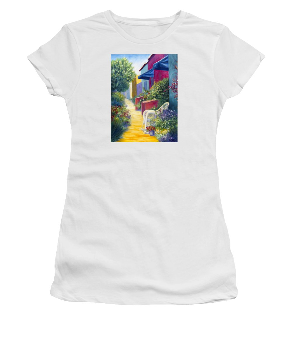 Capitola Women's T-Shirt (Athletic Fit) featuring the painting Capitola Dreaming by Shannon Grissom