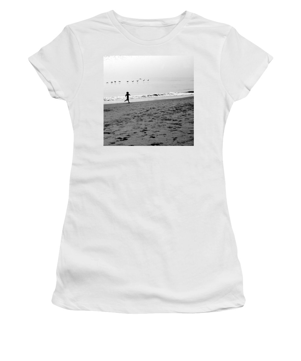 Photograph Women's T-Shirt (Athletic Fit) featuring the photograph Carefree by Jean Macaluso