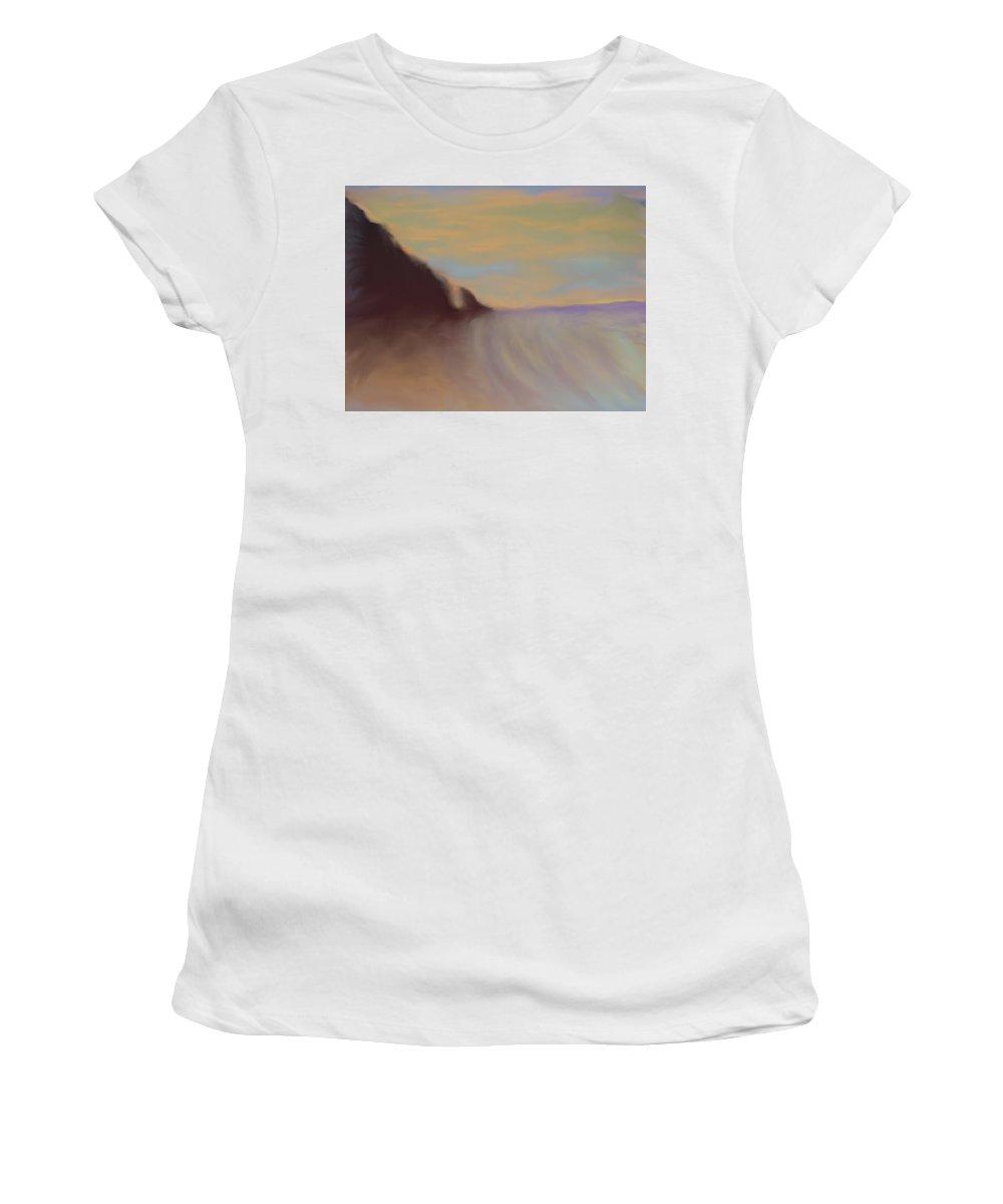 Sunset Women's T-Shirt (Athletic Fit) featuring the digital art Caribbean Sunset by Ian MacDonald