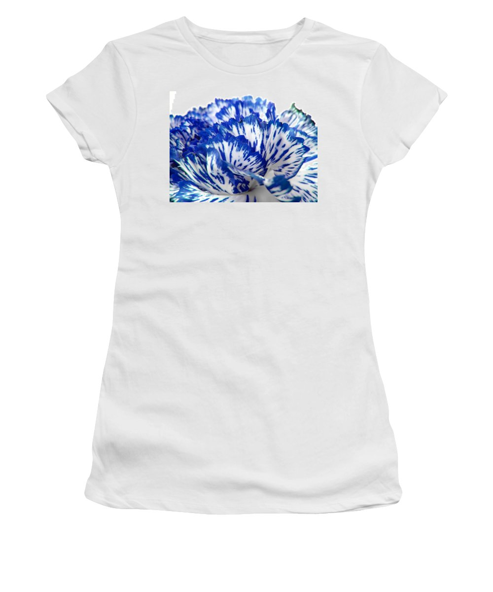 Carnation Women's T-Shirt (Athletic Fit) featuring the photograph Carnation by Daniel Csoka