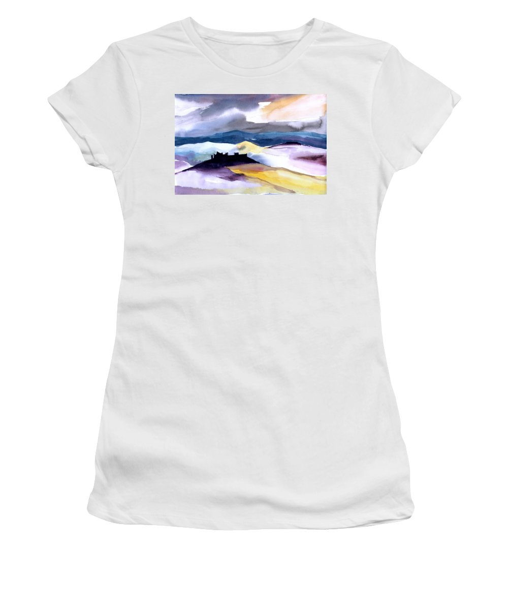 Water Women's T-Shirt featuring the painting Castle by Anil Nene