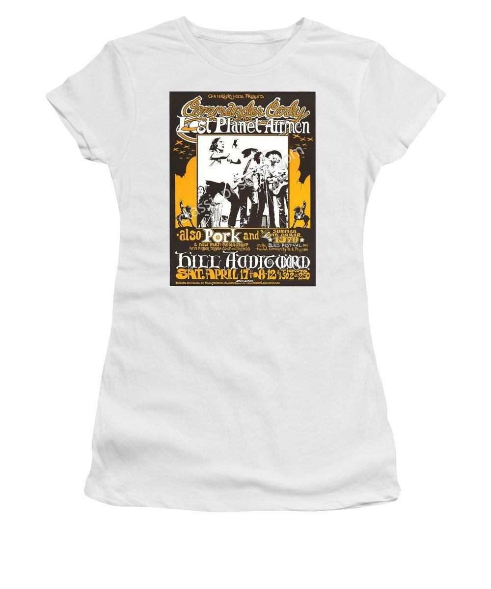 Commander Cody Women's T-Shirt (Athletic Fit) featuring the digital art Cc At Hill by Commander Cody
