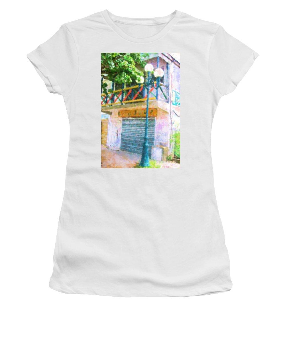 St. Martin Women's T-Shirt (Athletic Fit) featuring the photograph Cest La Vie by Debbi Granruth