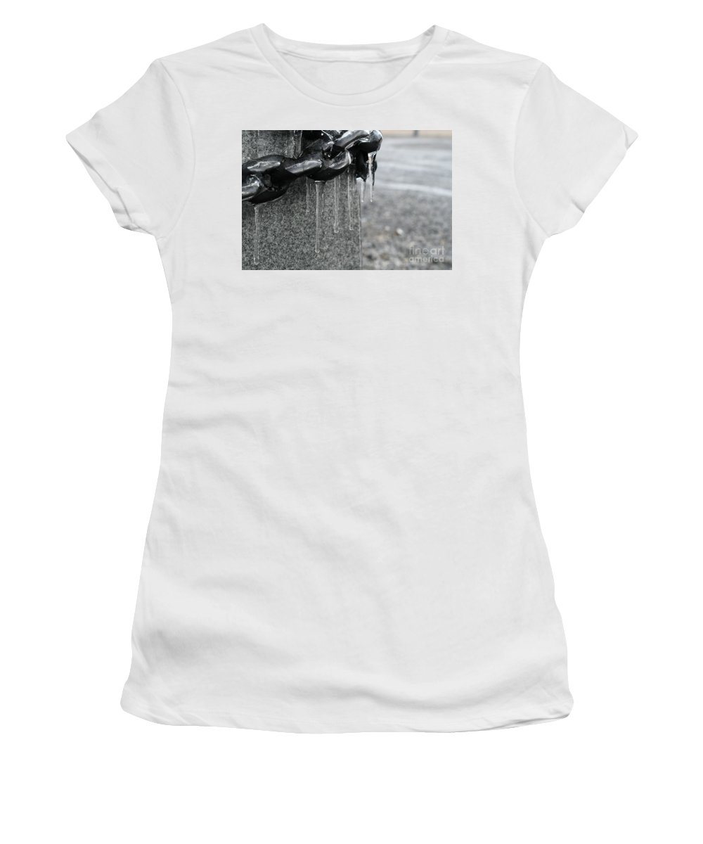 Chains Women's T-Shirt featuring the photograph Chains by Julie Street