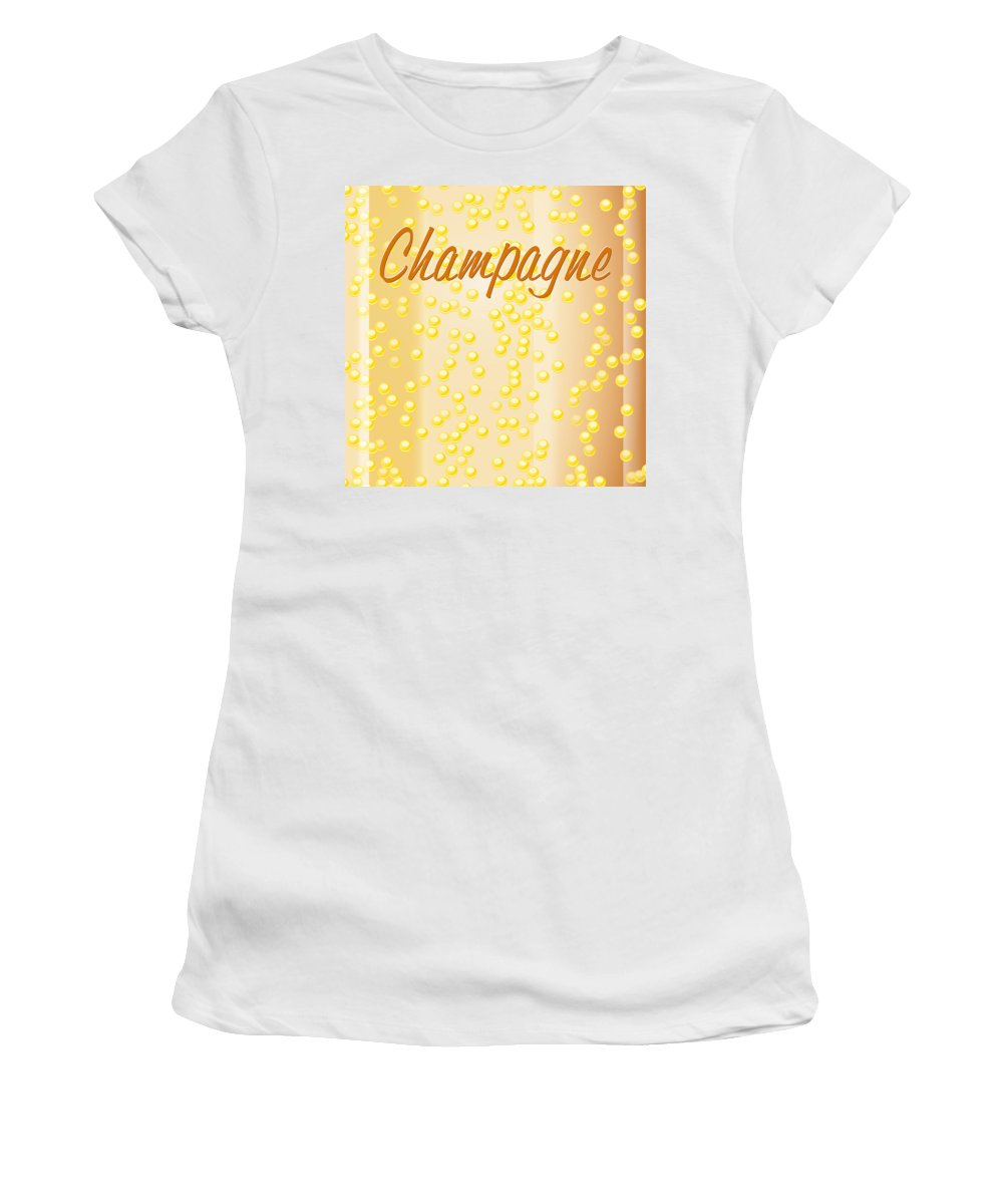 France Women's T-Shirt (Athletic Fit) featuring the digital art Champagne by Alain De Maximy