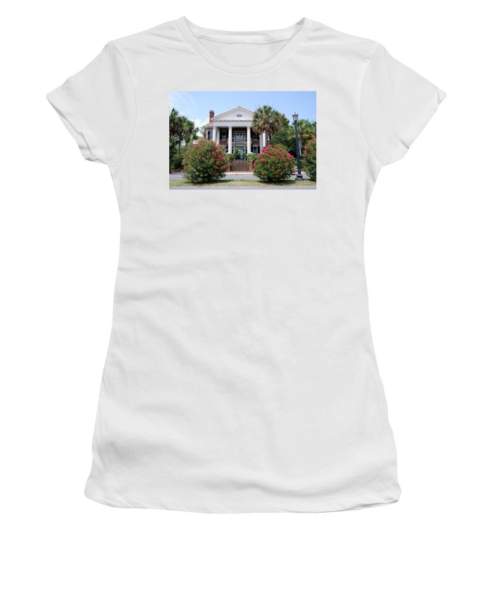 Photography Women's T-Shirt featuring the photograph Charleston At His Best by Susanne Van Hulst