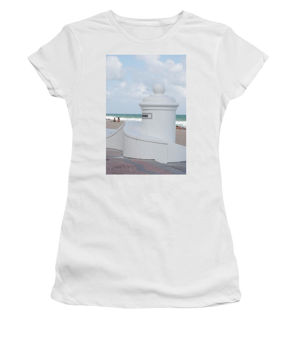 Shore Women's T-Shirt (Athletic Fit) featuring the photograph Chess Pawn Shore by Rob Hans