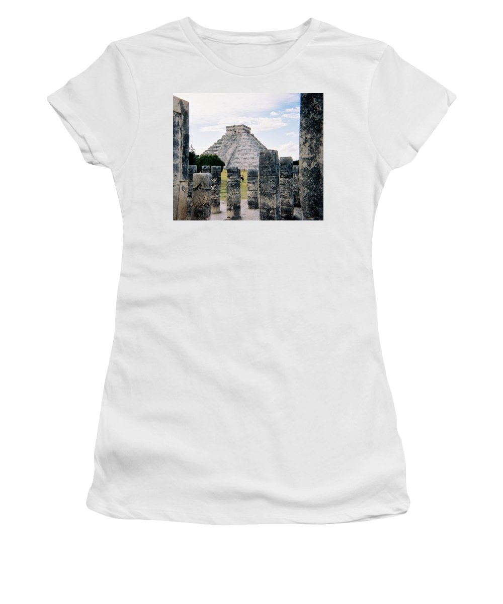Chitchen Itza Women's T-Shirt (Athletic Fit) featuring the photograph Chichen Itza 3 by Anita Burgermeister
