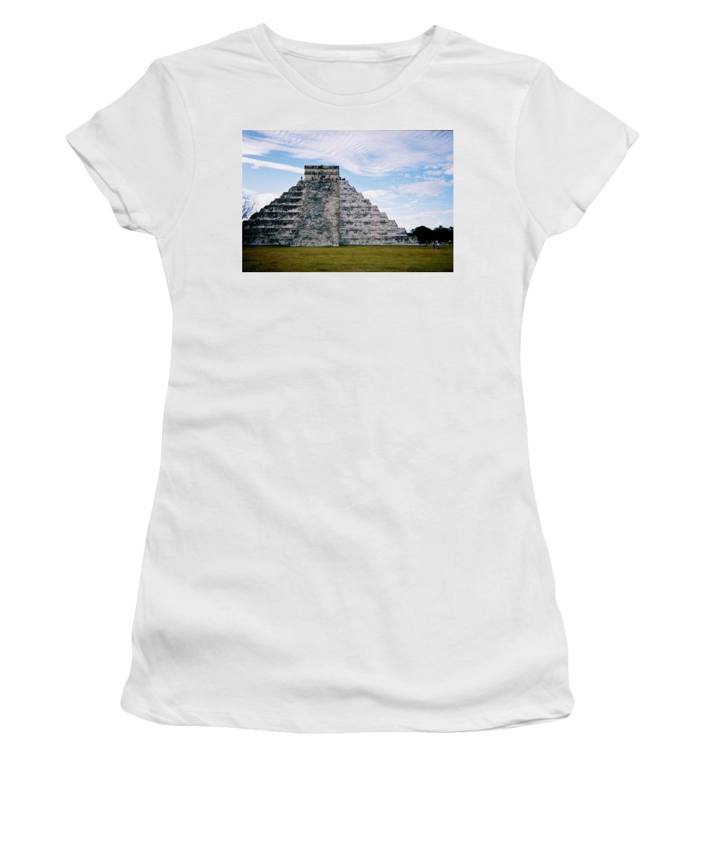 Chitchen Itza Women's T-Shirt (Athletic Fit) featuring the photograph Chichen Itza 4 by Anita Burgermeister