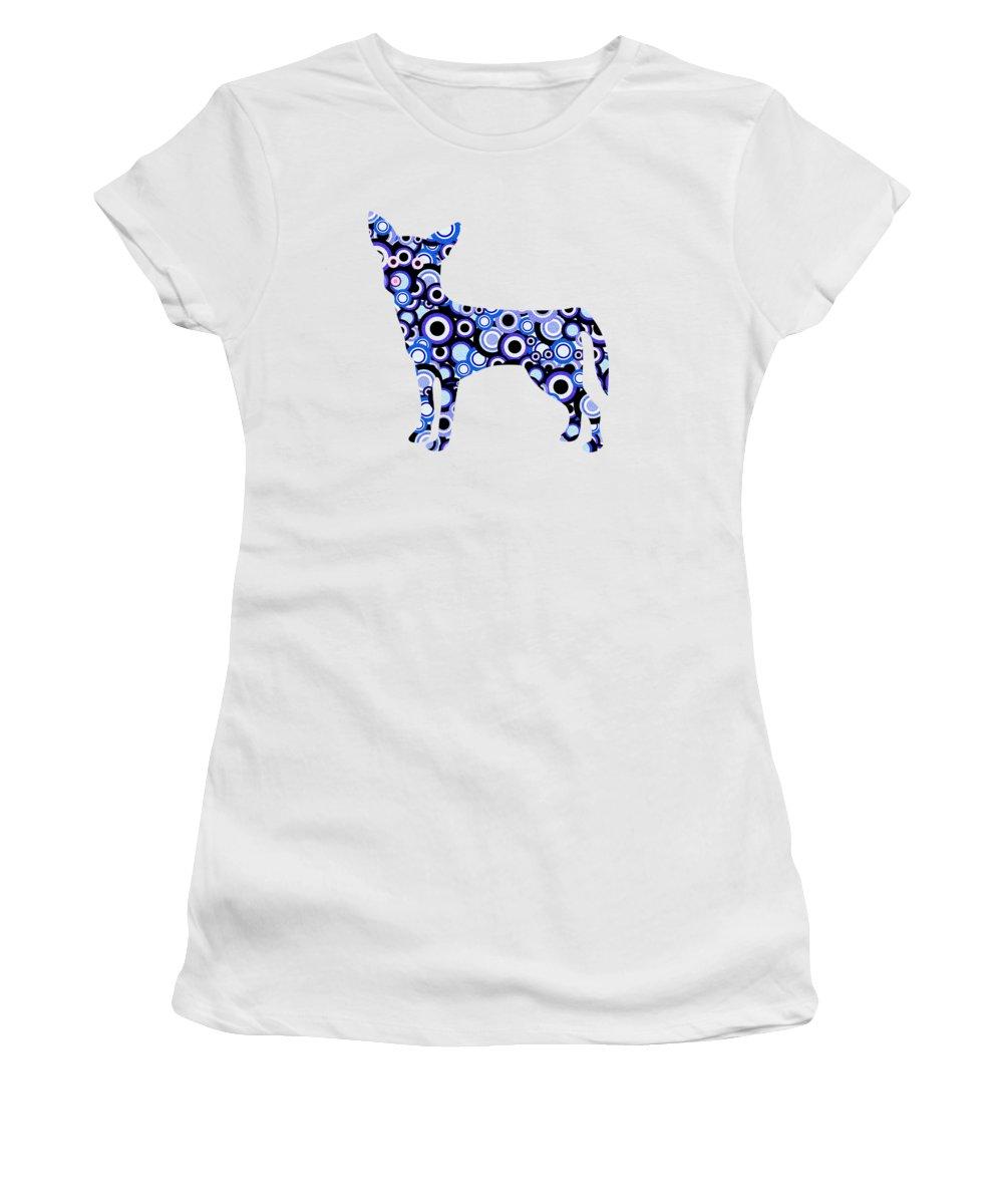 Malakhova Women's T-Shirt featuring the digital art Chihuahua - Animal Art by Anastasiya Malakhova