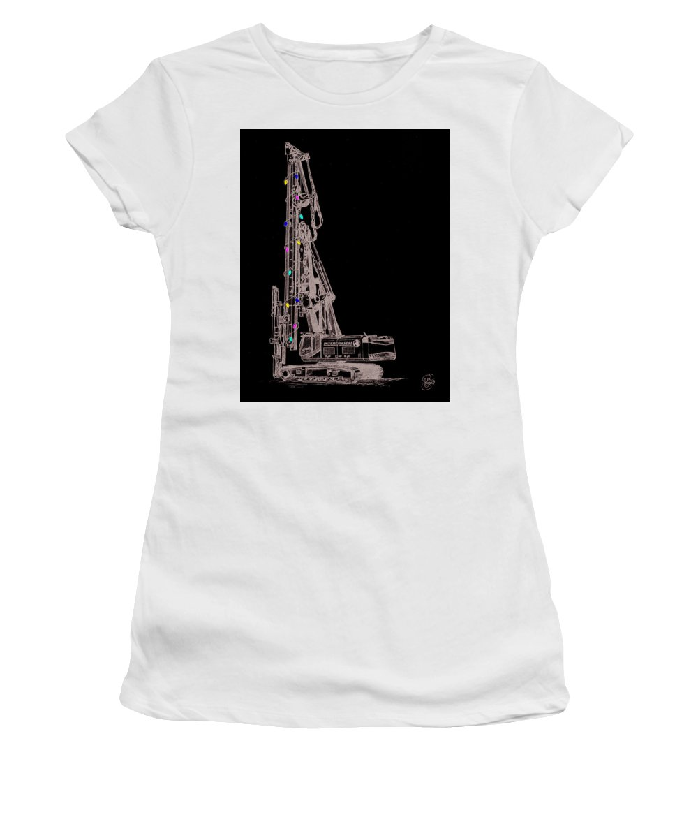 Christmas Women's T-Shirt (Athletic Fit) featuring the digital art Christmas Intercoastal Abi by Stacey May