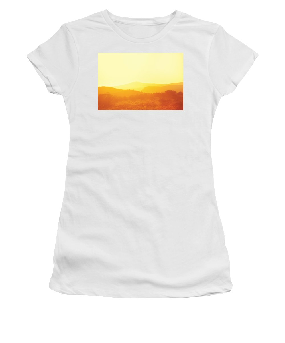 Savad Women's T-Shirt featuring the photograph City - Arizona - Sunset Over Nevada by Mike Savad