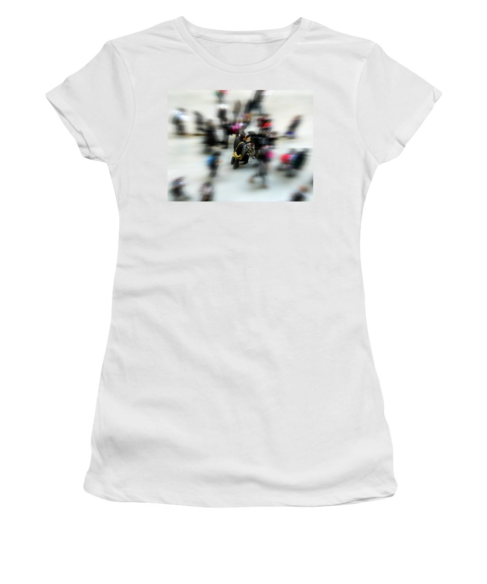 London Women's T-Shirt featuring the photograph City In Movement by Osvaldo Hamer