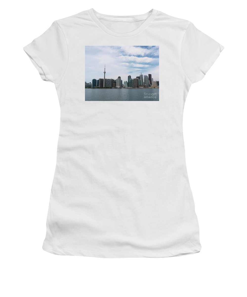 Toronto Women's T-Shirt (Athletic Fit) featuring the photograph City Of Toronto by Oleksiy Maksymenko