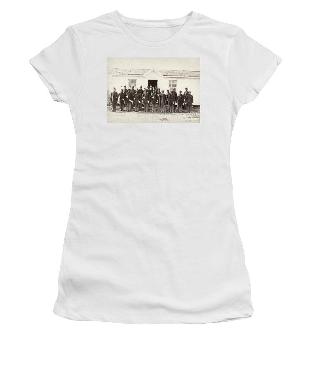 1865 Women's T-Shirt featuring the photograph Civil War: Band, 1865 by Granger