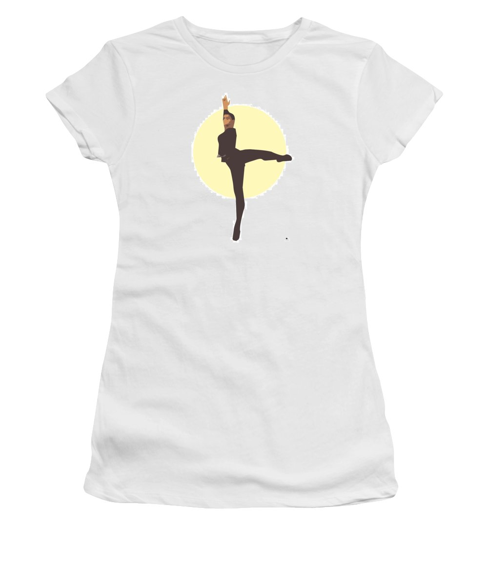 Dancer Women's T-Shirt (Athletic Fit) featuring the digital art Classic Ballet Dancer by Joaquin Abella
