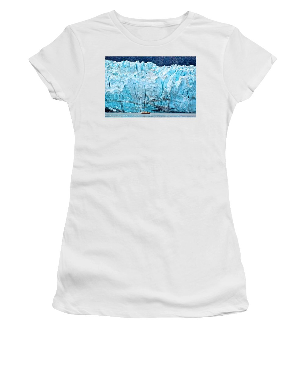 Glacier Women's T-Shirt (Athletic Fit) featuring the photograph Closer Perspective by Eric Tressler