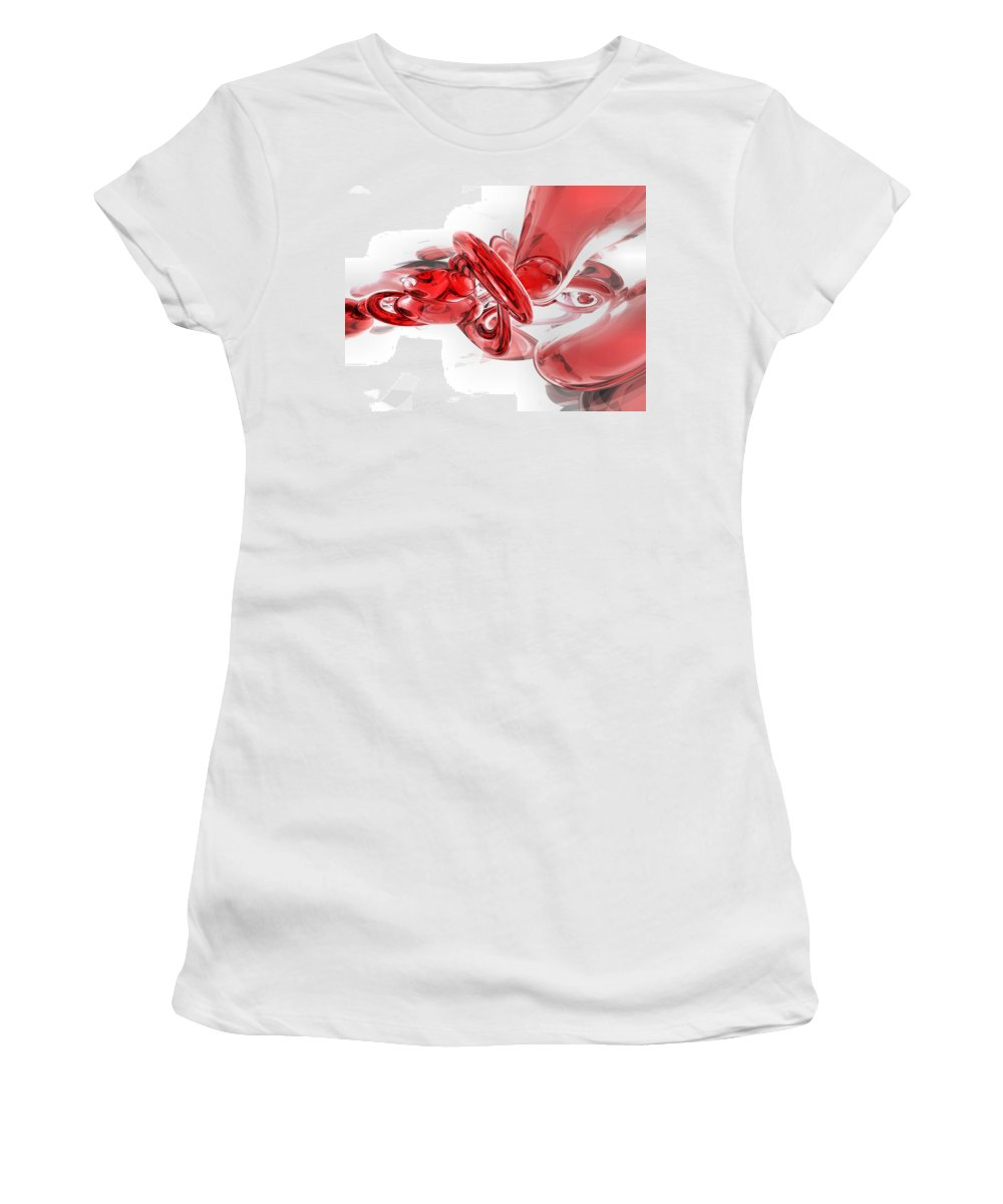 3d Women's T-Shirt (Athletic Fit) featuring the digital art Coagulation Abstract by Alexander Butler