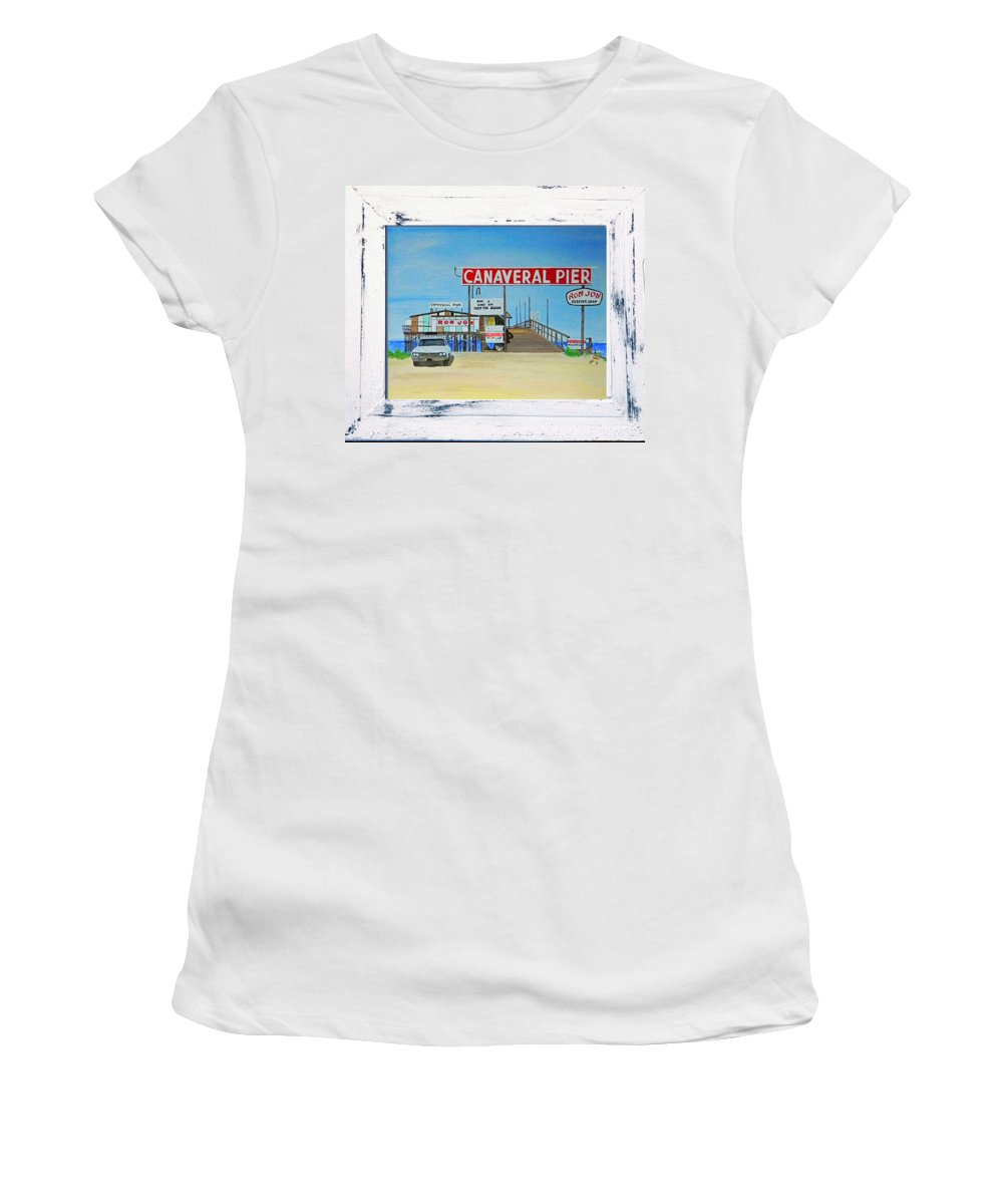 Wgilroy Women's T-Shirt featuring the photograph Cocoa Beach/cape Canaveral Pier by MGilroy