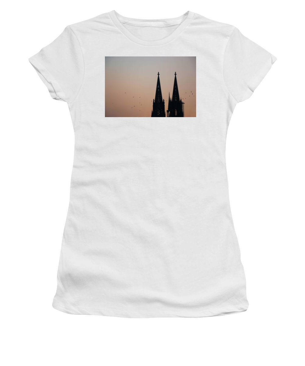 Stadt Women's T-Shirt (Athletic Fit) featuring the photograph Cologne by Alex Simon