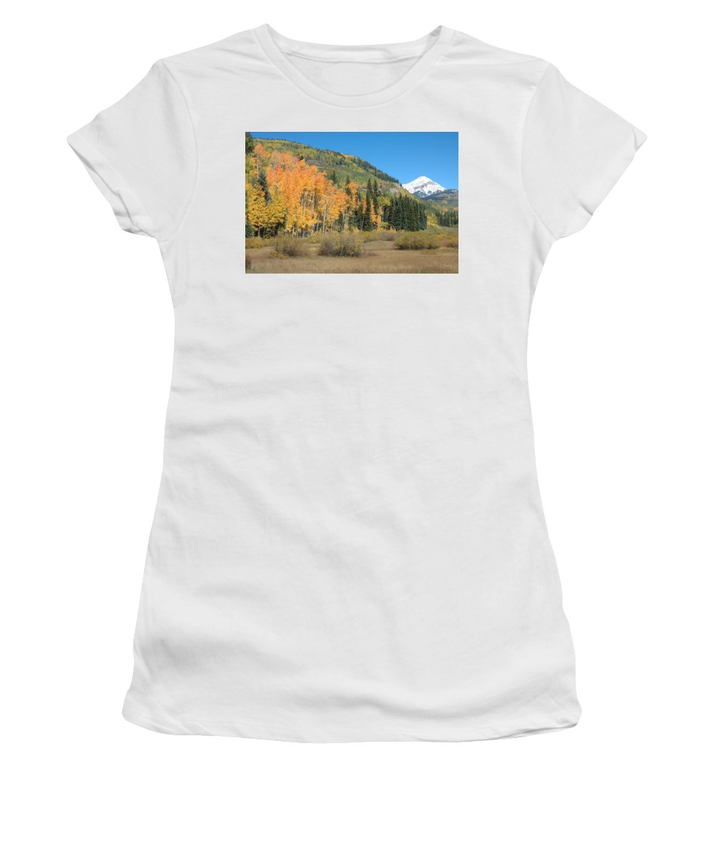 Aspen Women's T-Shirt (Athletic Fit) featuring the photograph Colorado Gold by Jerry McElroy