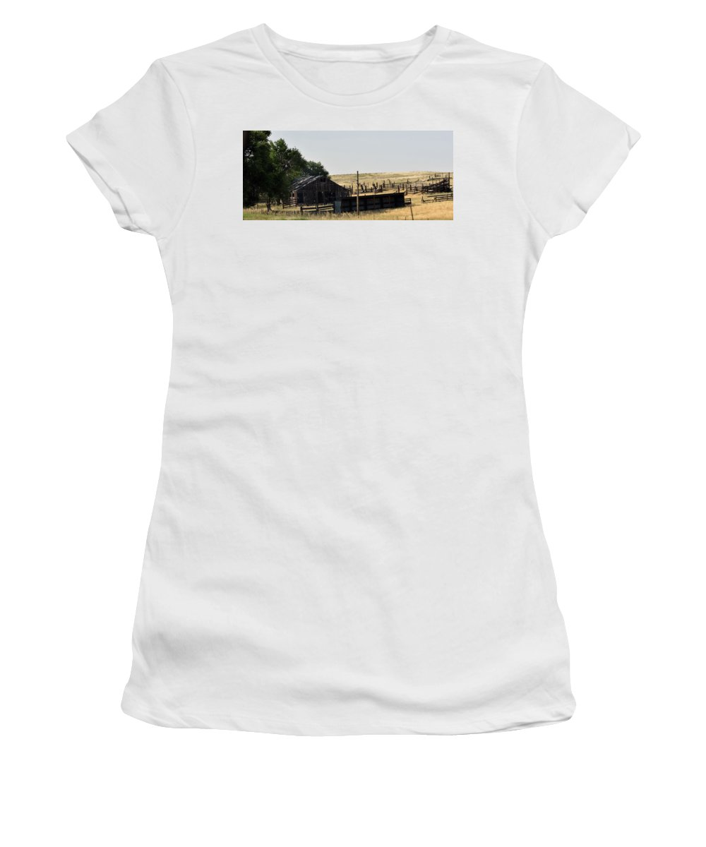 Colorado Women's T-Shirt featuring the photograph Colorado Past And Present by Linda Benoit