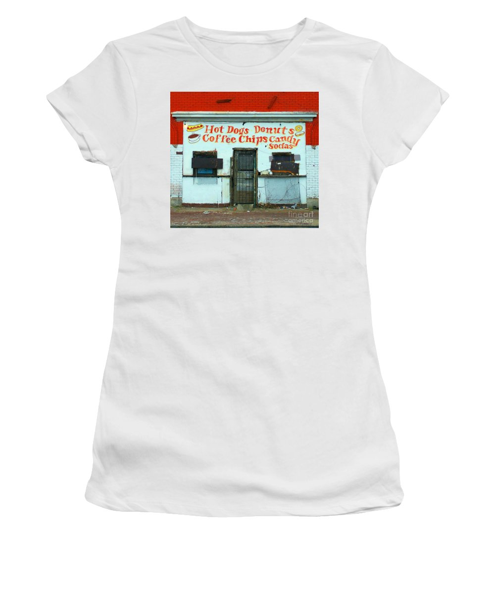 Confectionary Women's T-Shirt (Athletic Fit) featuring the photograph Confectionery by Albert Stewart