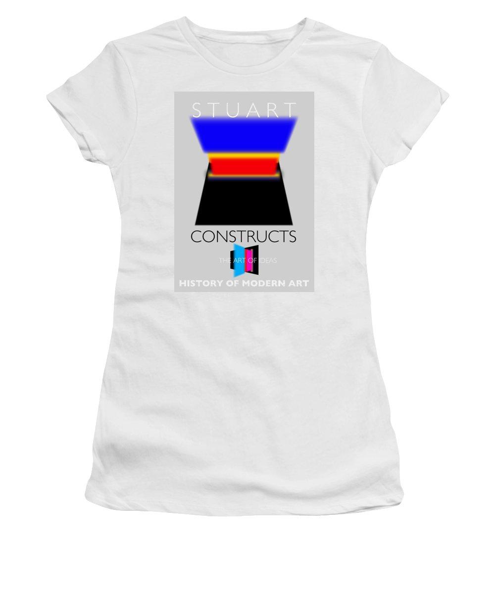 De Stijl Women's T-Shirt featuring the painting Constuctivist Poster by Charles Stuart