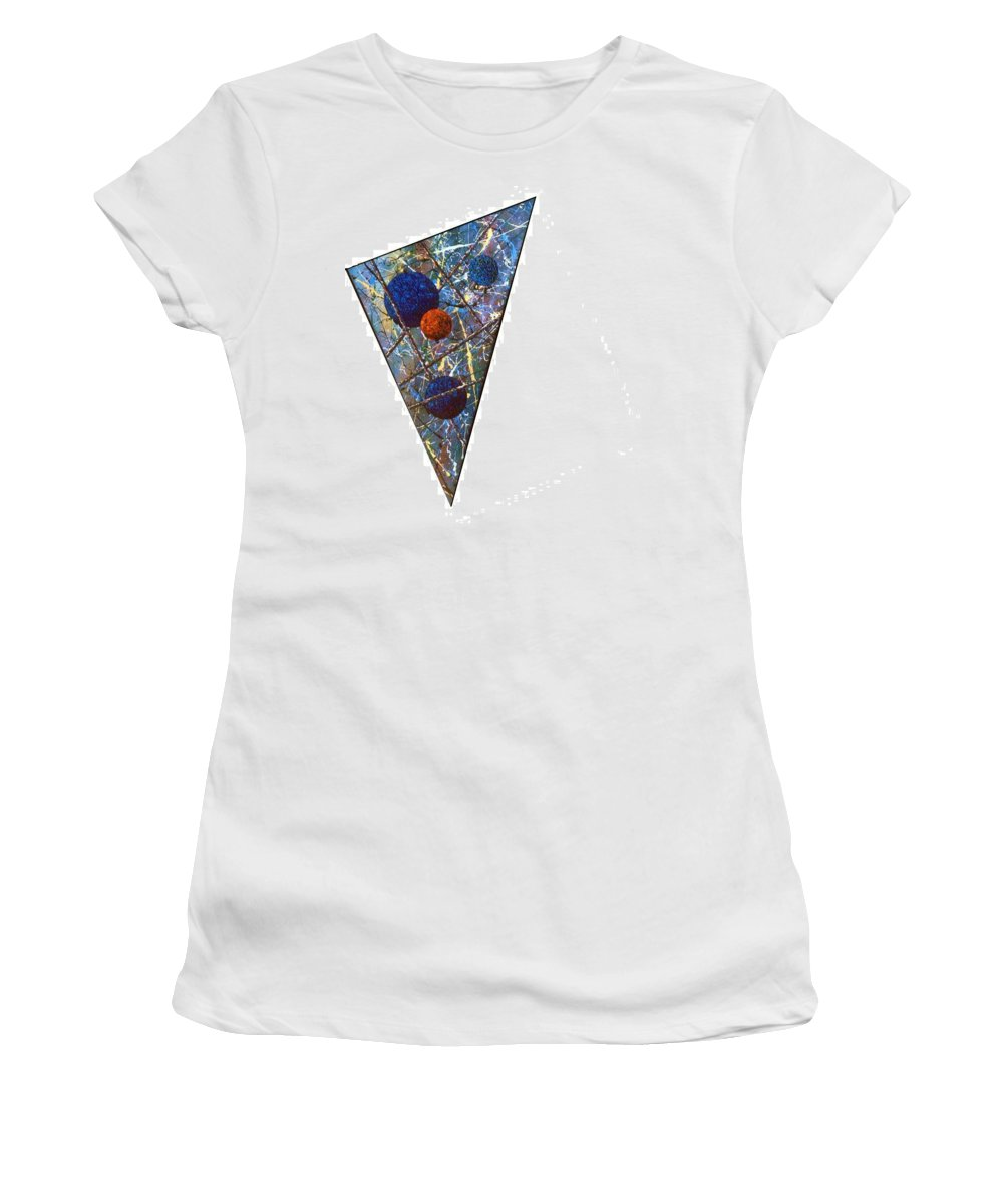 Abstract Women's T-Shirt (Athletic Fit) featuring the painting Continuum 3 by Micah Guenther