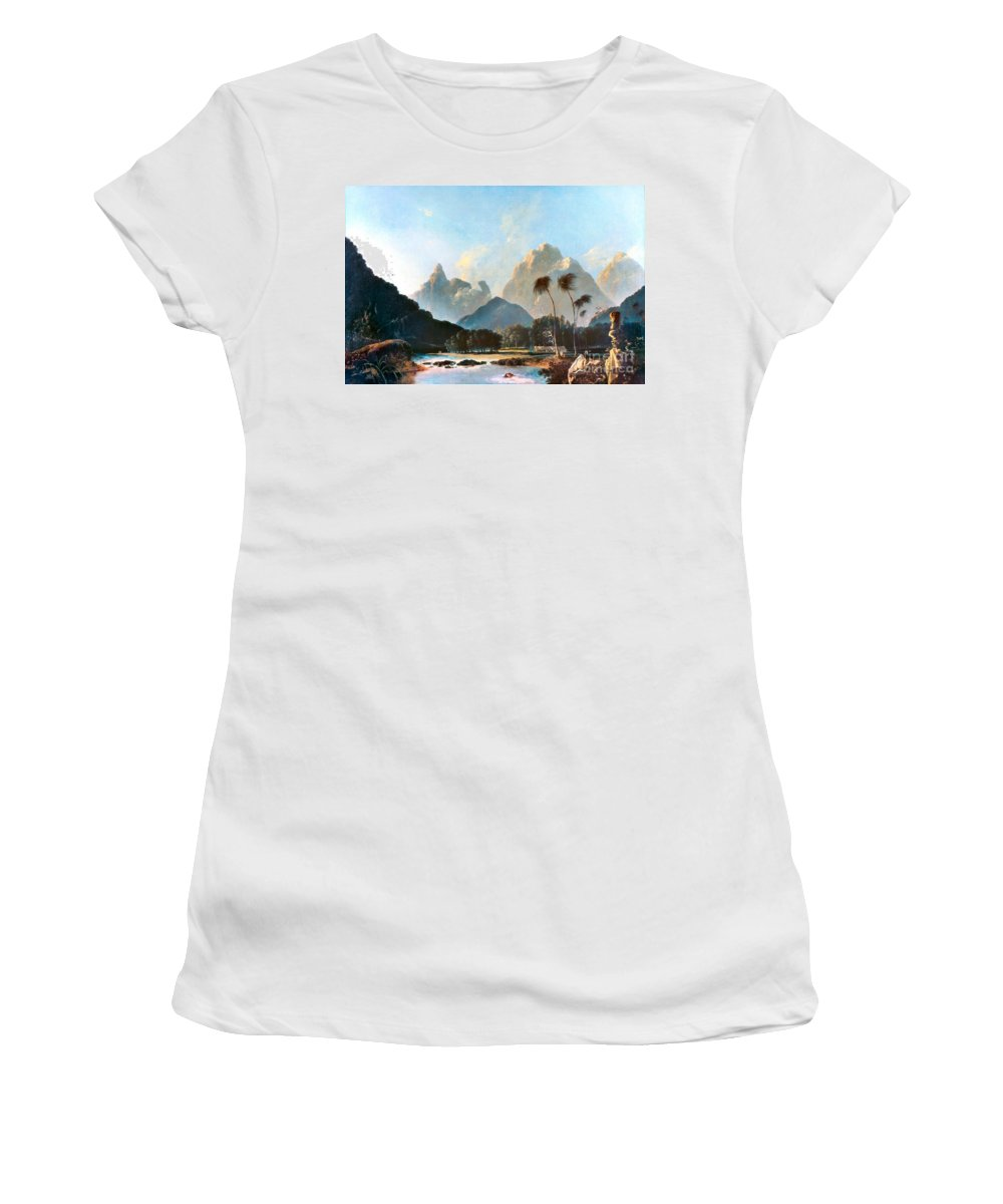 1773 Women's T-Shirt featuring the painting Cook: Tahiti, 1773 by Granger