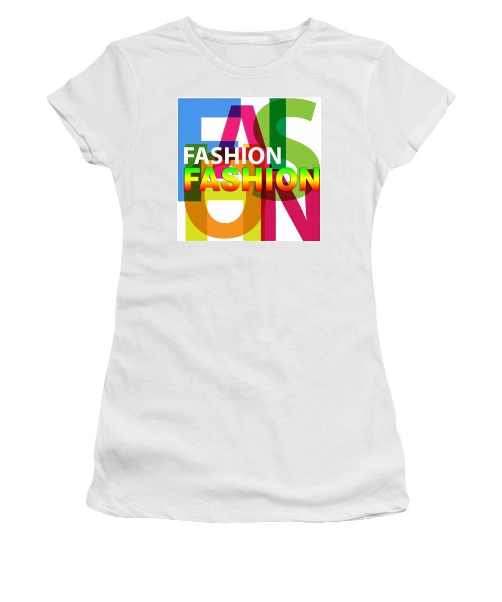 Comics Women's T-Shirt featuring the digital art Creative Title - Fashion by Don Kuing