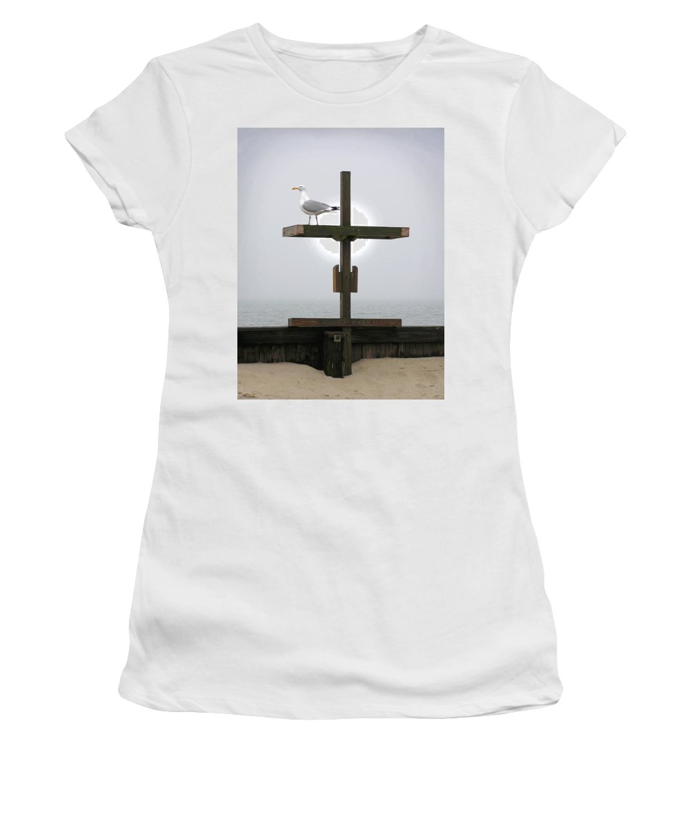Cross Women's T-Shirt (Athletic Fit) featuring the photograph Cross by Charles Harden